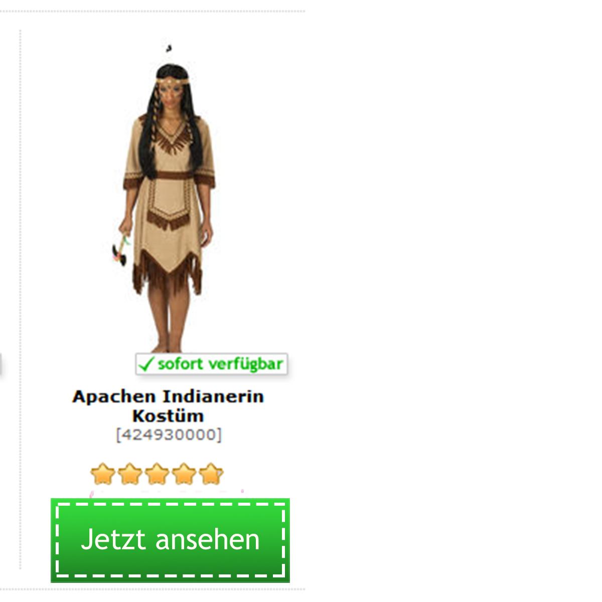 Appachen Indianer Kostüm für Damen