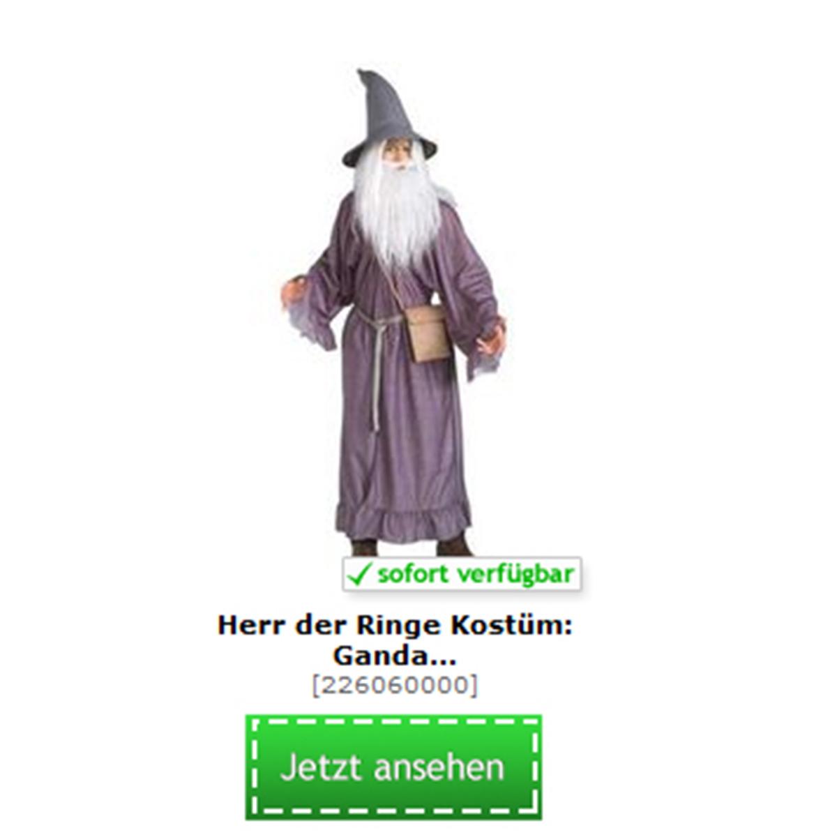 Kostüm von Gandalf aus Herr der Ringe und der Hobbit