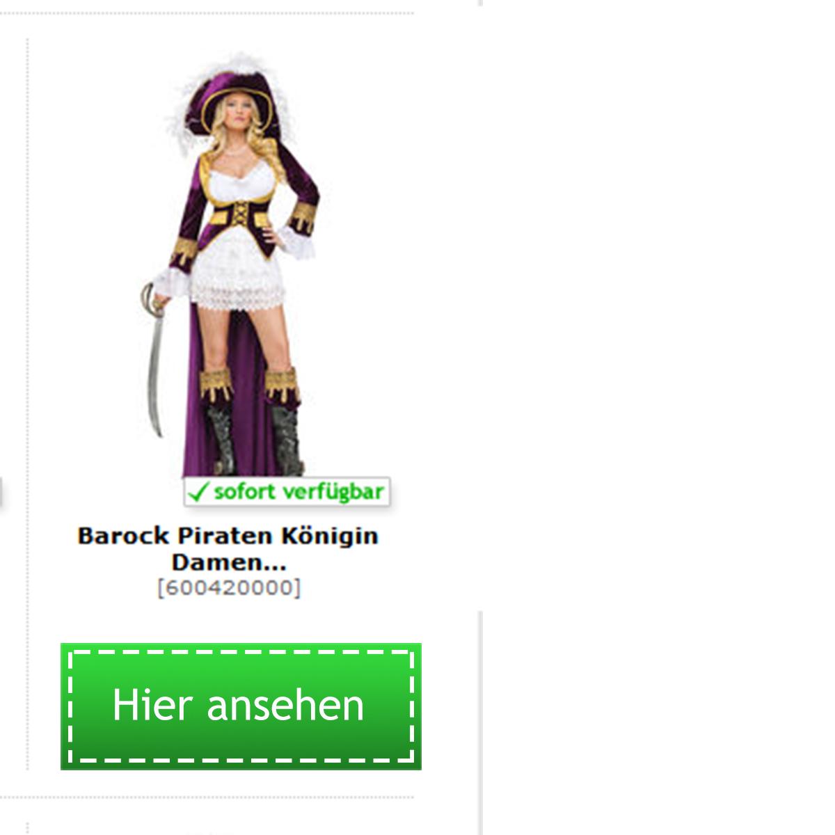 Piraten Barock Kostüm für Damen