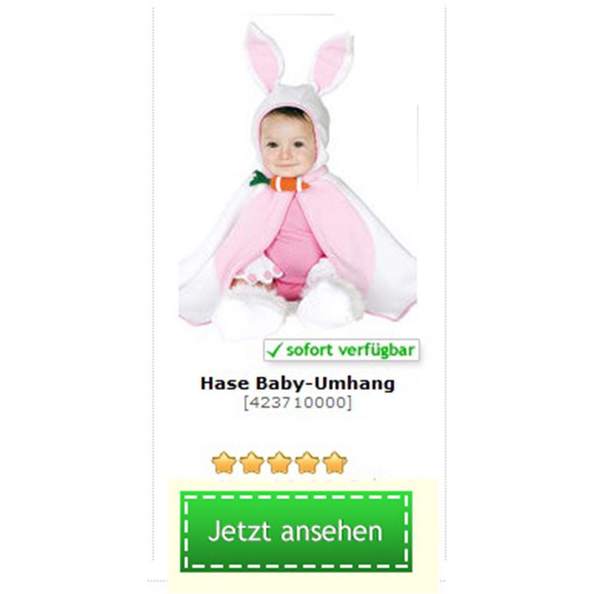 Süßes Baby Hasen Kostüm