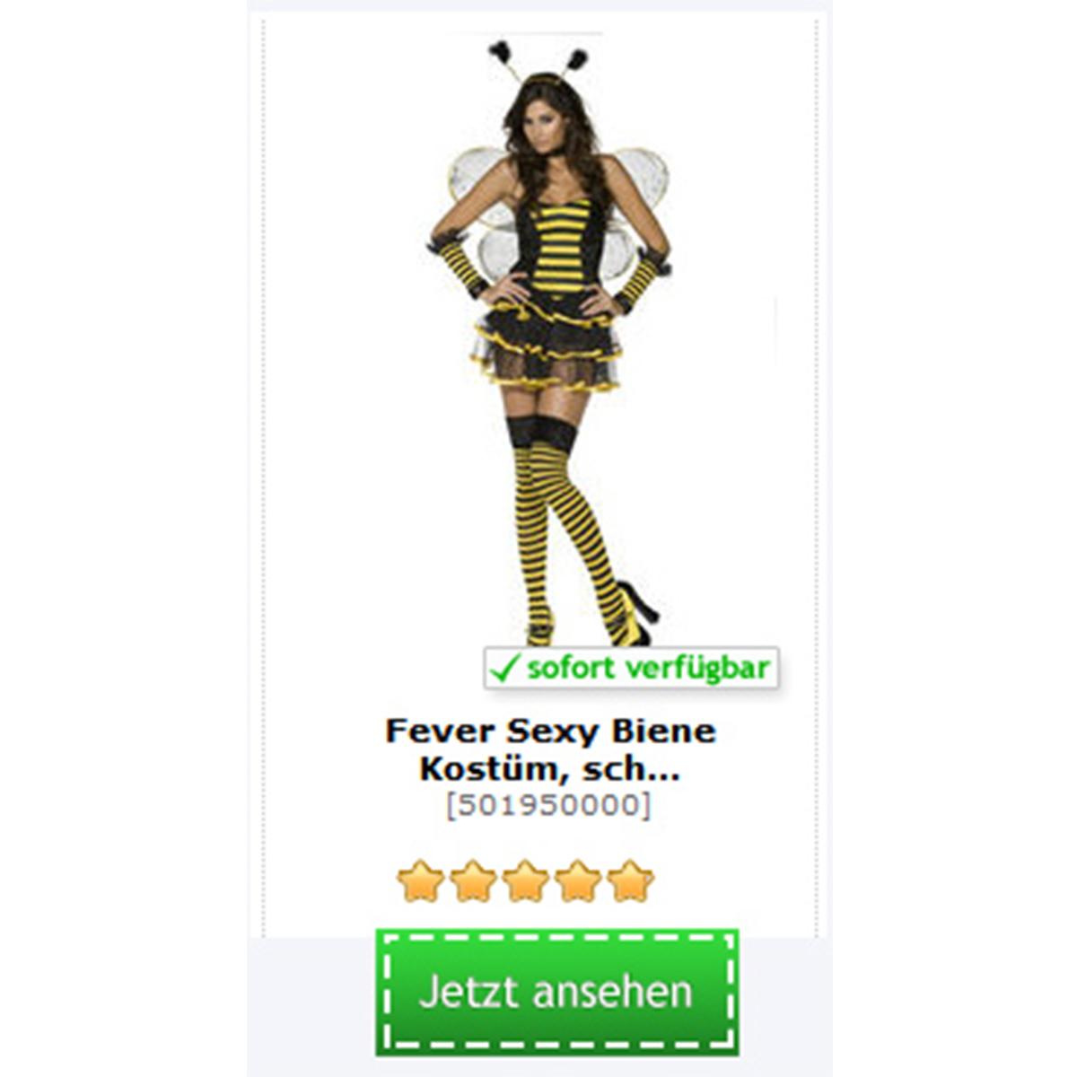 sexy Bienen Kostüm für Damen